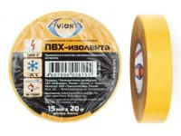 Изолента ПВХ, 15 мм * 20 м, желтая