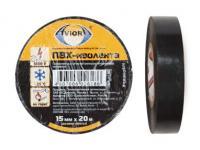 Изолента ПВХ, 15 мм * 20 м, черная