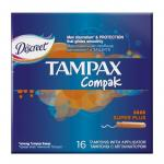 *СПЕЦЦЕНА TAMPAX Compak Женские гигиенические тампоны с аппликатором Super Plus Duo 16шт ПрепакКороб